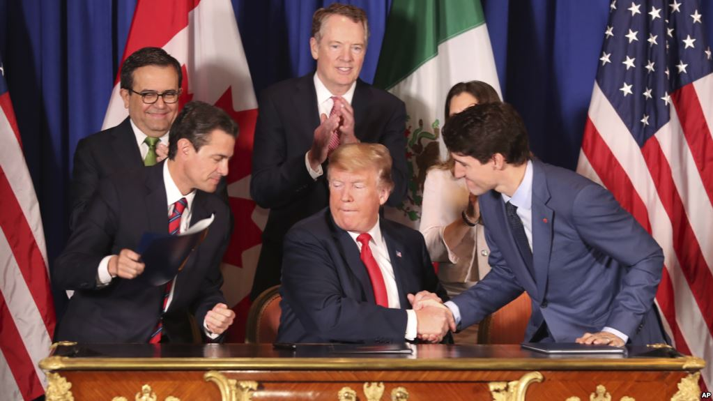 Estados Unidos, México y Canadá firman tratado comercial