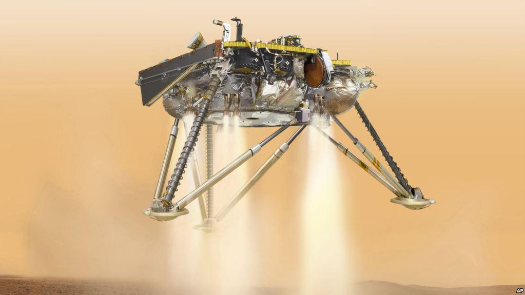 Nave espacial de la NASA intentará aterrizar en Marte