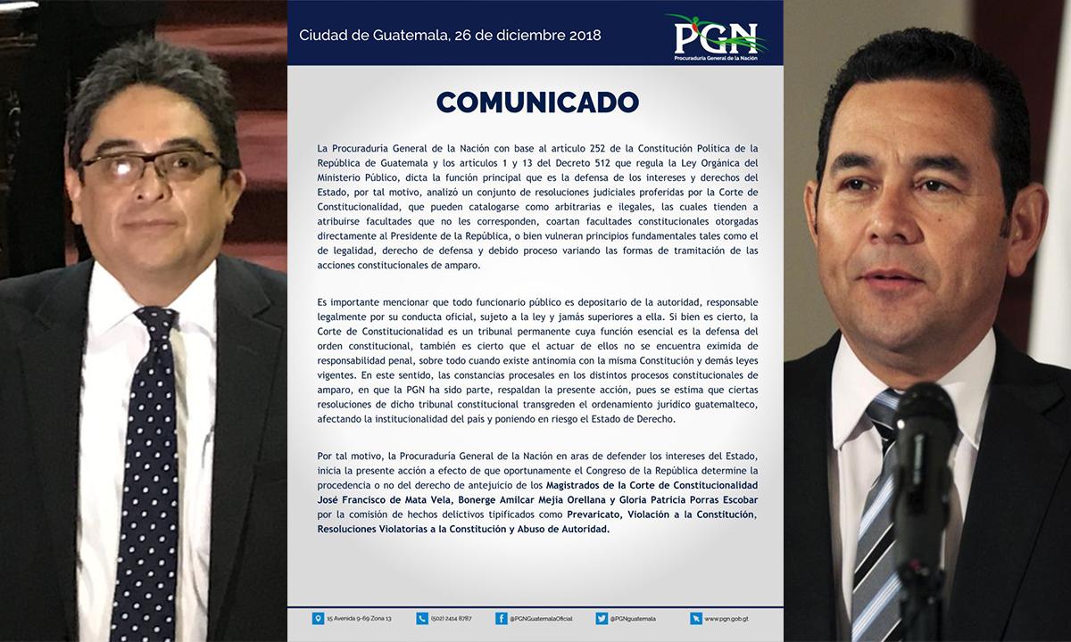 Jordán Rodas opina sobre las últimas acciones de PGN relacionadas a Jimmy Morales