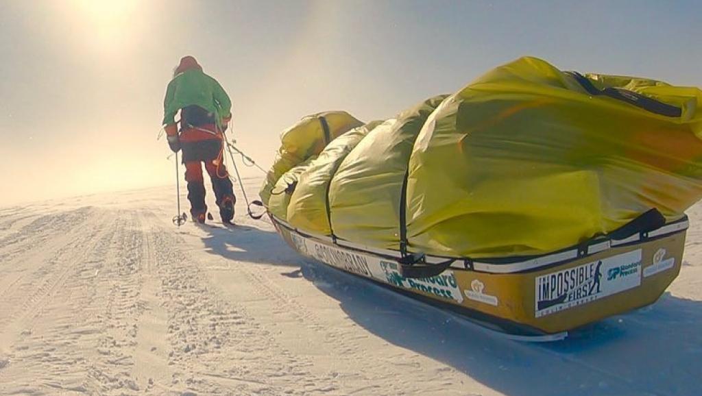 Por primera vez un hombre atraviesa la Antártida solo, a pie y sin ayuda