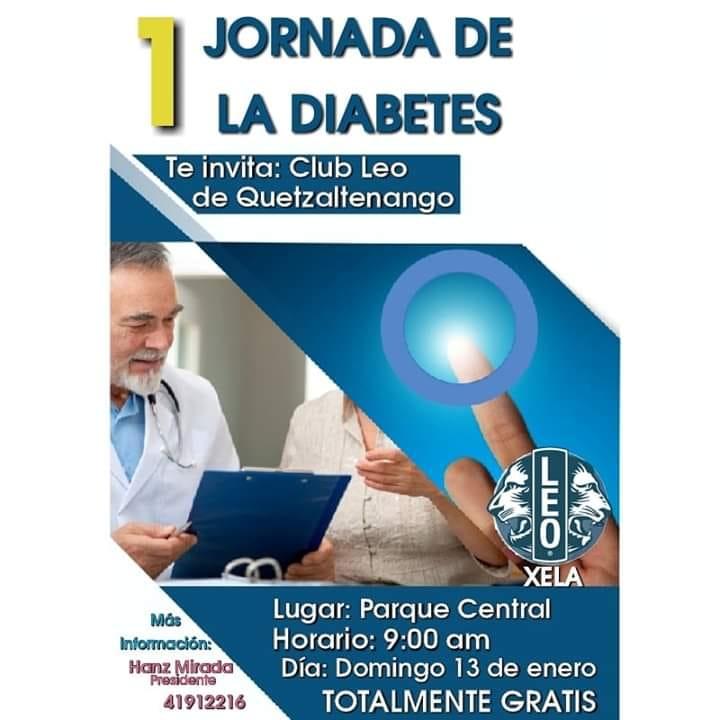 Anuncian jornada gratuita para detección de diabetes