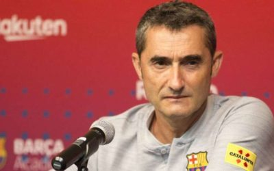 Ernesto Valverde analiza el partido del Barcelona ante el Lyon