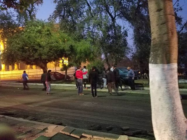 Accidente en la calle Rodolfo Robles, zona 3 de Xela