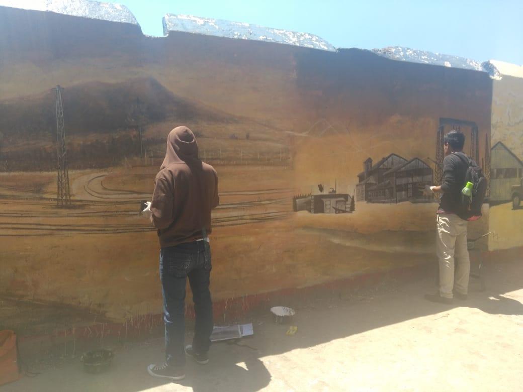 ¿Qué pinturas artísticas plasman en el Centro Intercultural?