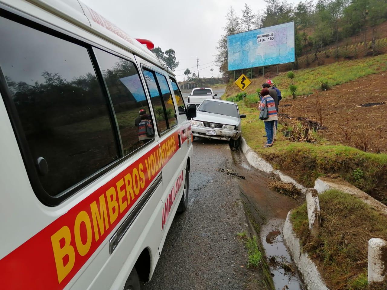 Dos accidentes en la ruta Interamericana