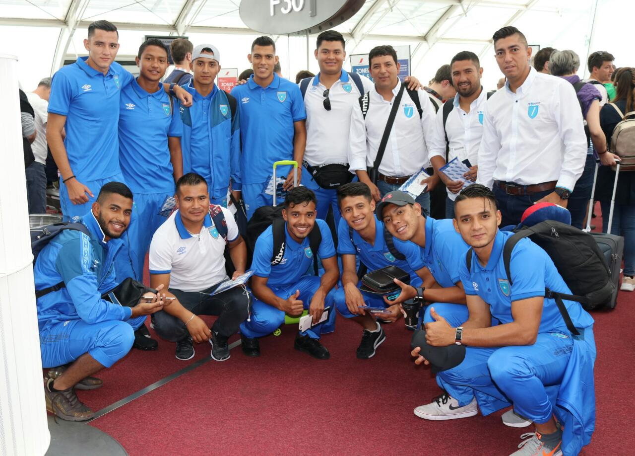 Selección Sub 23 de Guatemala aterriza en Francia