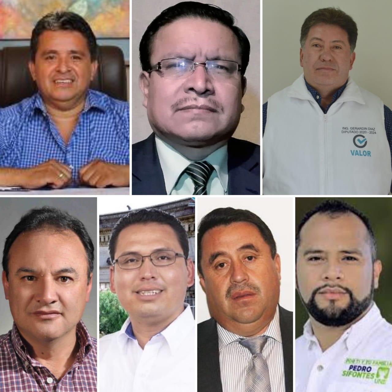 ¿Quiénes, por el momento, estarían en el Congreso en representación de Quetzaltenango?