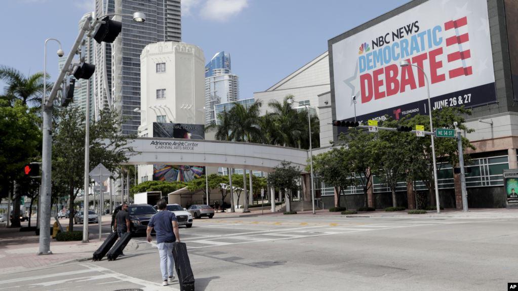Precandidatos demócratas listos para el primer debate