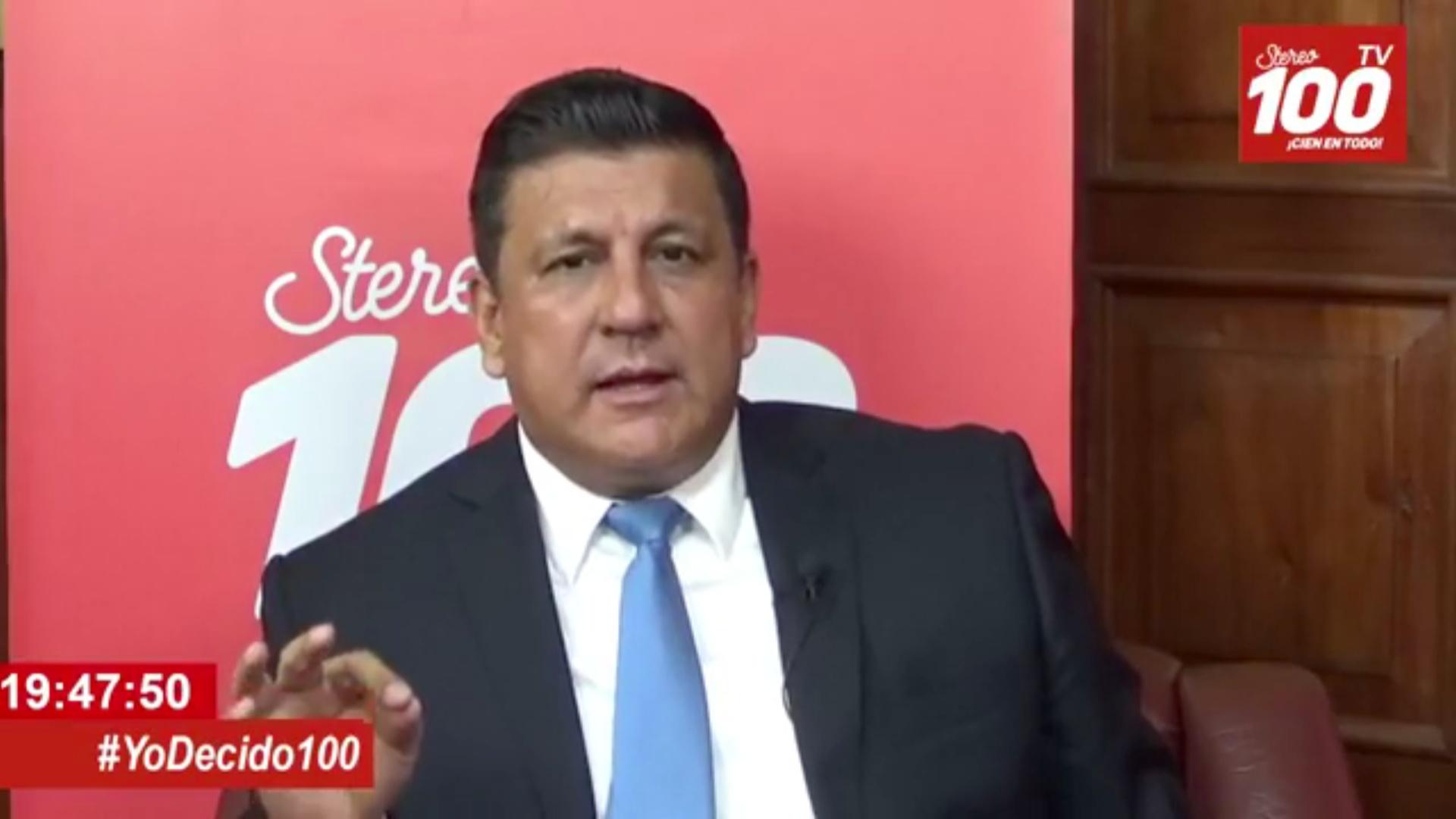 Estuardo Galdámez, presidenciable del partido FCN en #YoDecido100