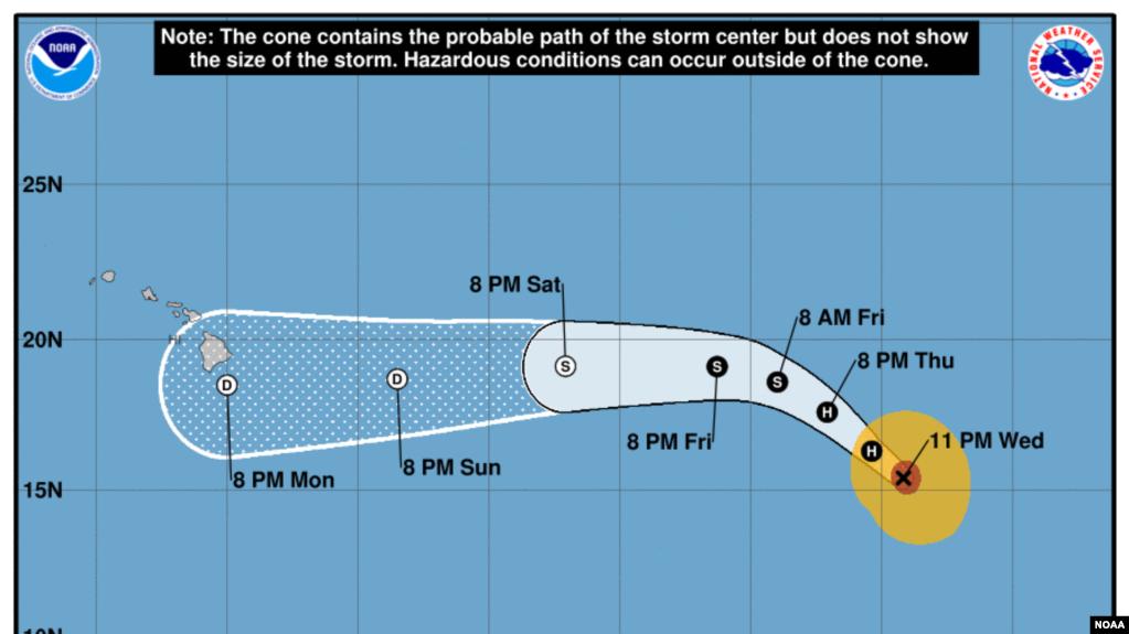 El huracán Bárbara se debilita sobre el océano Pacífico