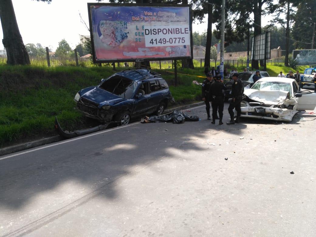 Tres heridos y una mujer fallecida, tras accidente en la 0 Calle de Xela