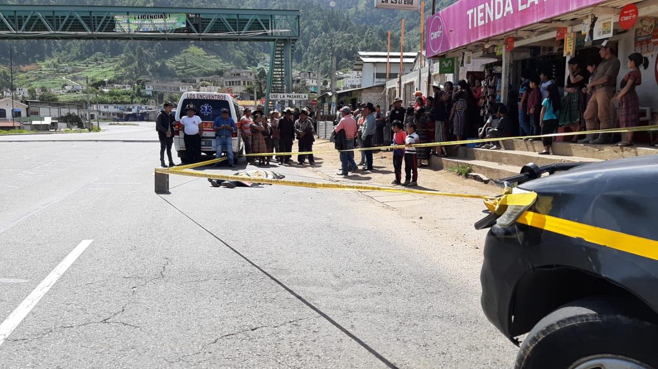Hombre muere tras ser atropellado en la ruta CA-1 Occidente