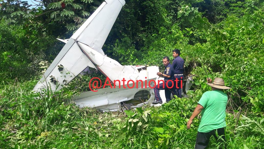 Mortal accidente de avioneta en Coatepeque
