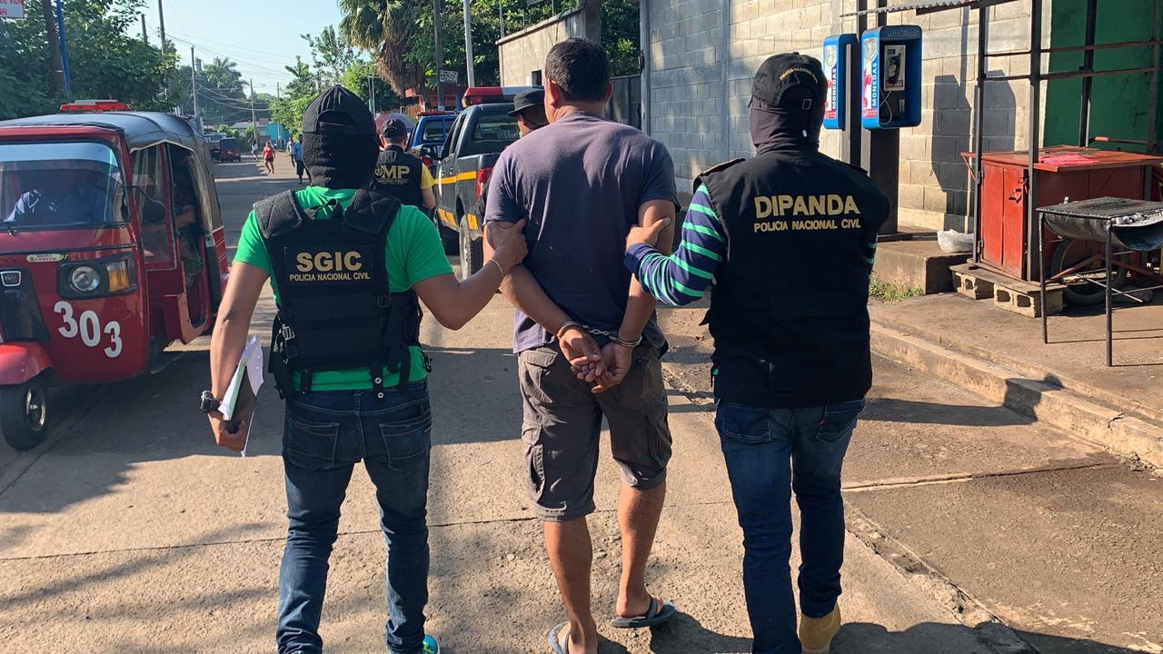 Ocho capturados en operativos contra extorsiones en Quetzaltenango, Retalhuleu y Suchitepéquez