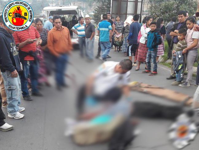 Hombre falleció tras ser atropellado en el ingreso a San Juan Ostuncalco