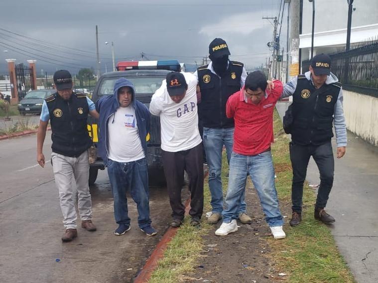Reportan la captura de sicarios que operaban en el Occidente de Guatemala