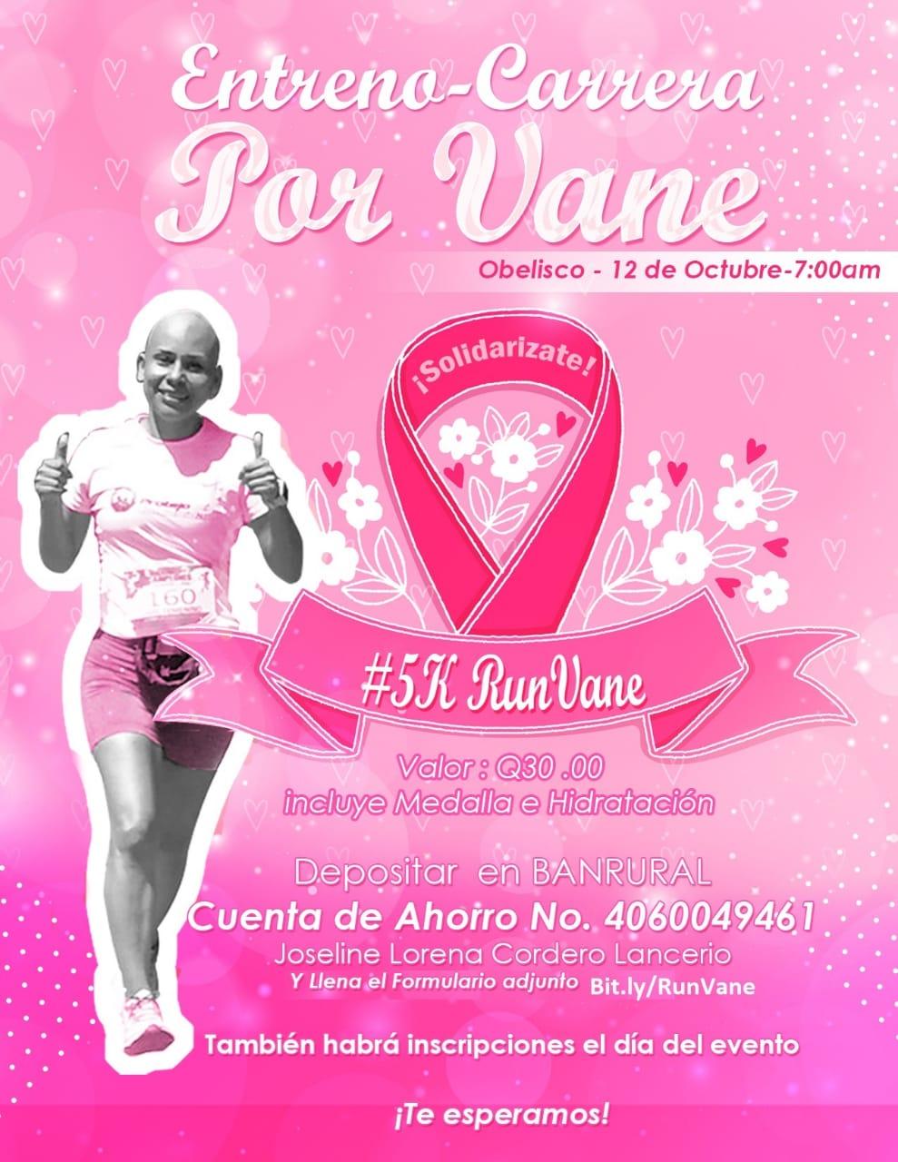 Organizan carrera para apoyar a Vanessa quien lucha contra el cáncer