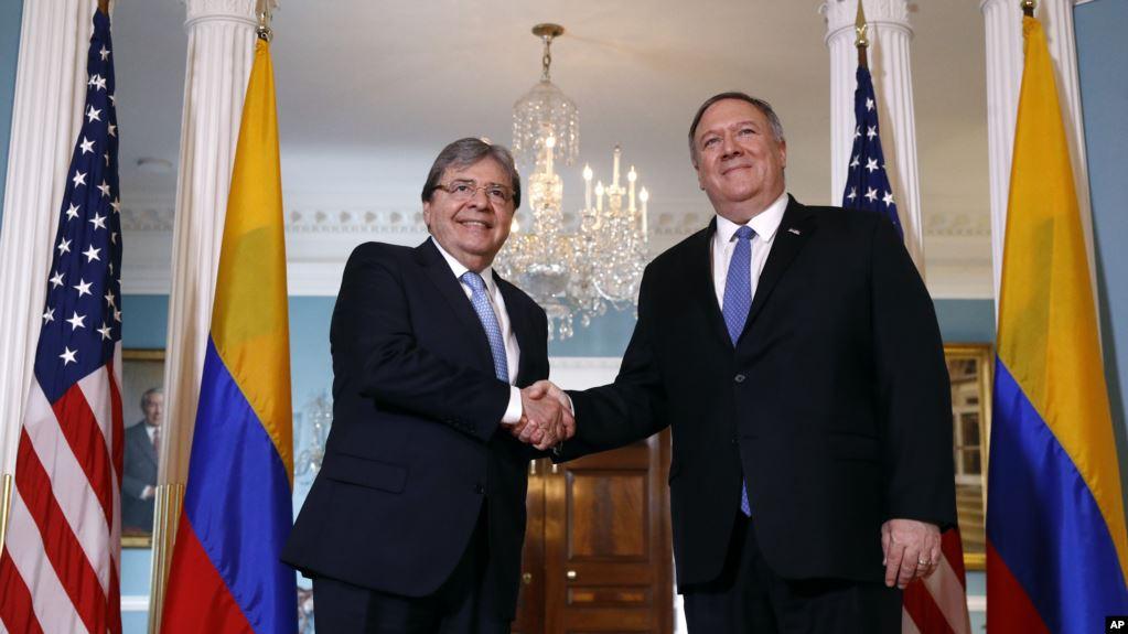 Pompeo y Holmes Trujillo discuten relación Colombia – EE.UU. y sobre Venezuela