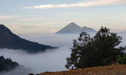 Cambio en el terreno del volcán Santa María por incendios