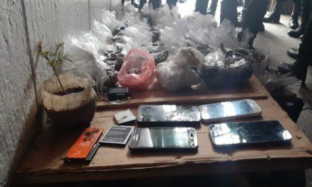 Hallan droga, teléfonos y chips en Granja Penal Cantel