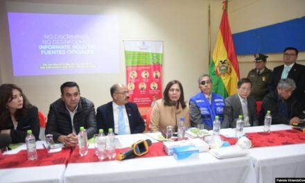 China dona equipos a Bolivia para prevención del coronavirus