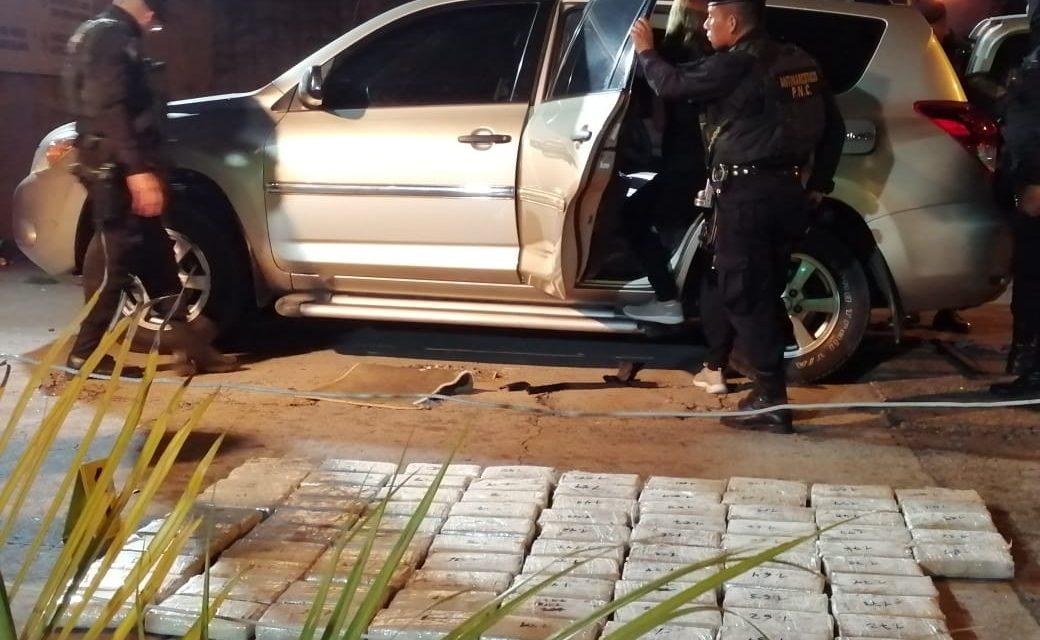 Interceptan vehículos con droga que se dirigían a san marcos