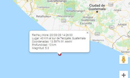 Sismo sensible en la capital y el occidente de Guatemala