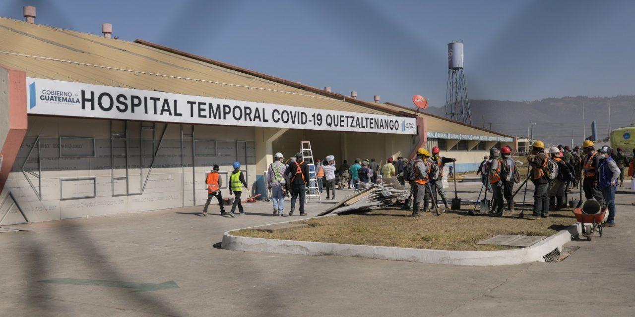 Covid-19: ¿Cuál es el avance en construcción de Hospital Temporal en Xela?