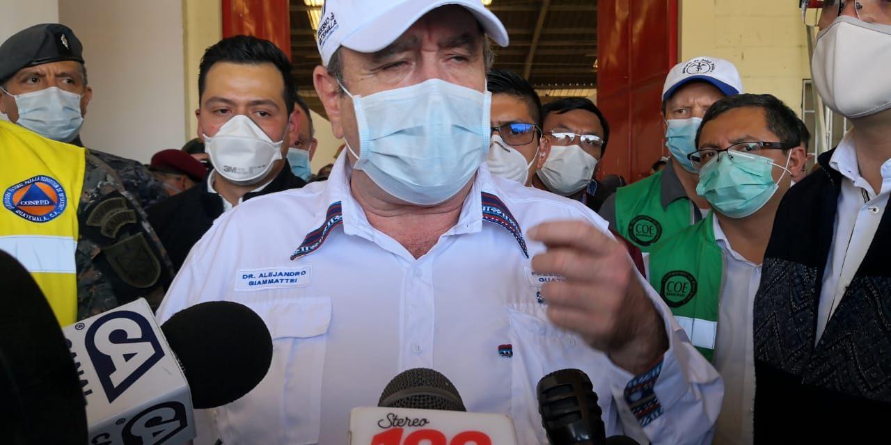 Presidente Alejandro Giammattei confirma tres casos más de Covid-19