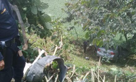 Vehículo cae a hondonada en la ruta Cito Zarco