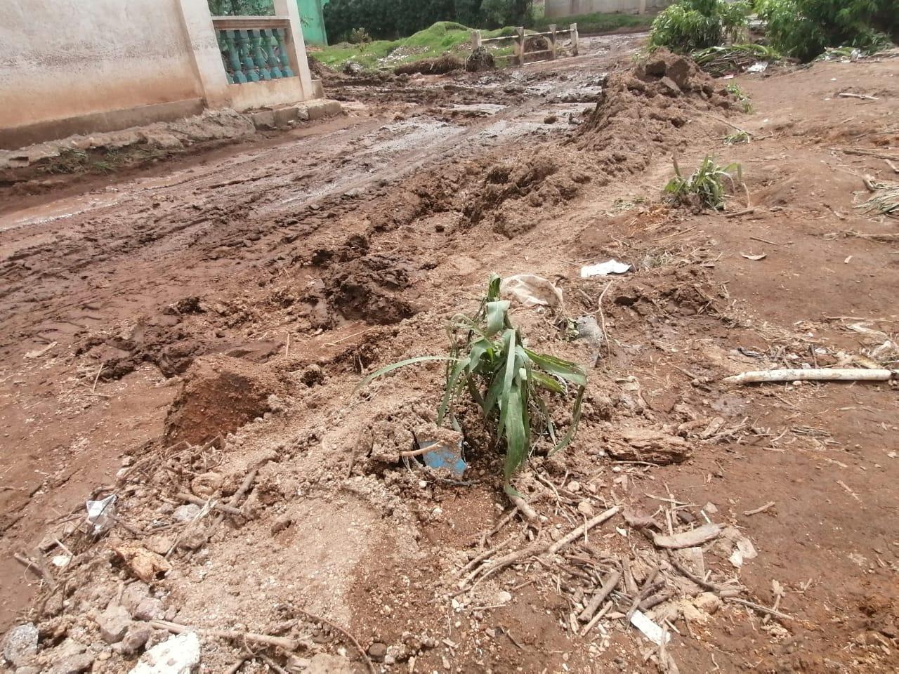 Viviendas inundadas y pérdidas en cosechas, tras la lluvia del domingo último en Cajolá