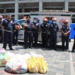 Bomberos Municipales Departamentales brindan mensaje de apoyo y entregan víveres a Bomberos Voluntarios