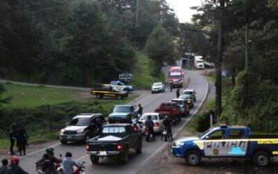 PNC instala puestos de control en ingresos al departamento de Quetzaltenango
