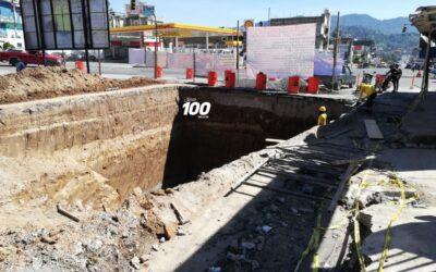 Inicia construcción de pilares en paso a desnivel de Cuatro Caminos