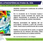 Continuarán lluvias por tormenta Cristóbal
