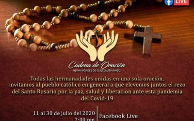 COVID-19 | Más de 40 hermandades y cofradías de Xela se unen en Cadena de Oración