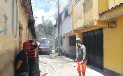 Incendio en Xela deja más de Q150 mil en pérdidas