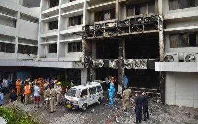 Incendio en hotel con pacientes de COVID-19 en India. Hay fallecidos