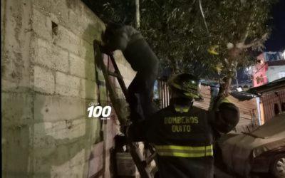 Hombre rescata a sus nietos tras incendio en vivienda