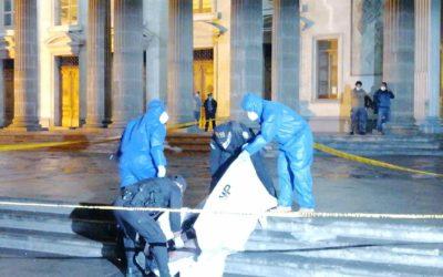Agentes de PNC trabajan sin equipo de protección