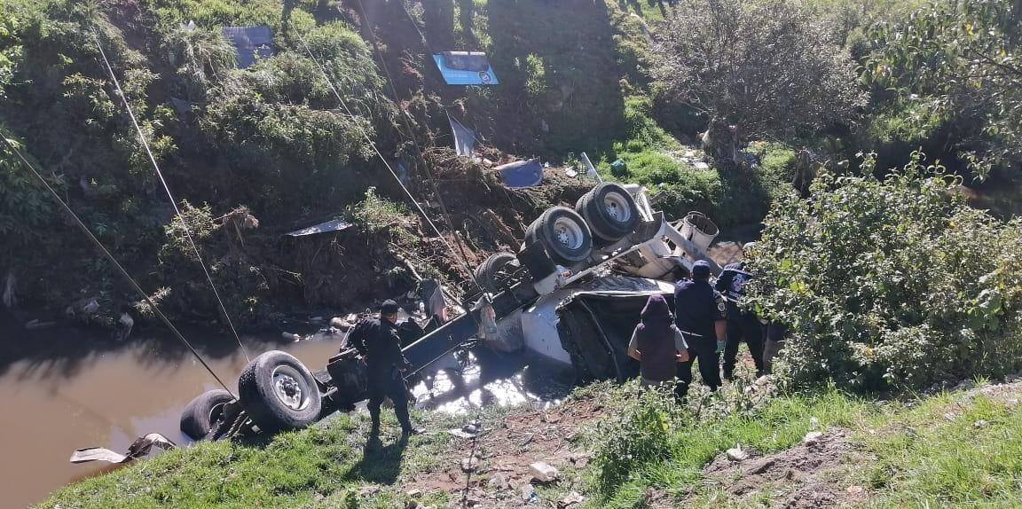 El saldo del trágico accidente ocurrido este viernes último en Olintepeque