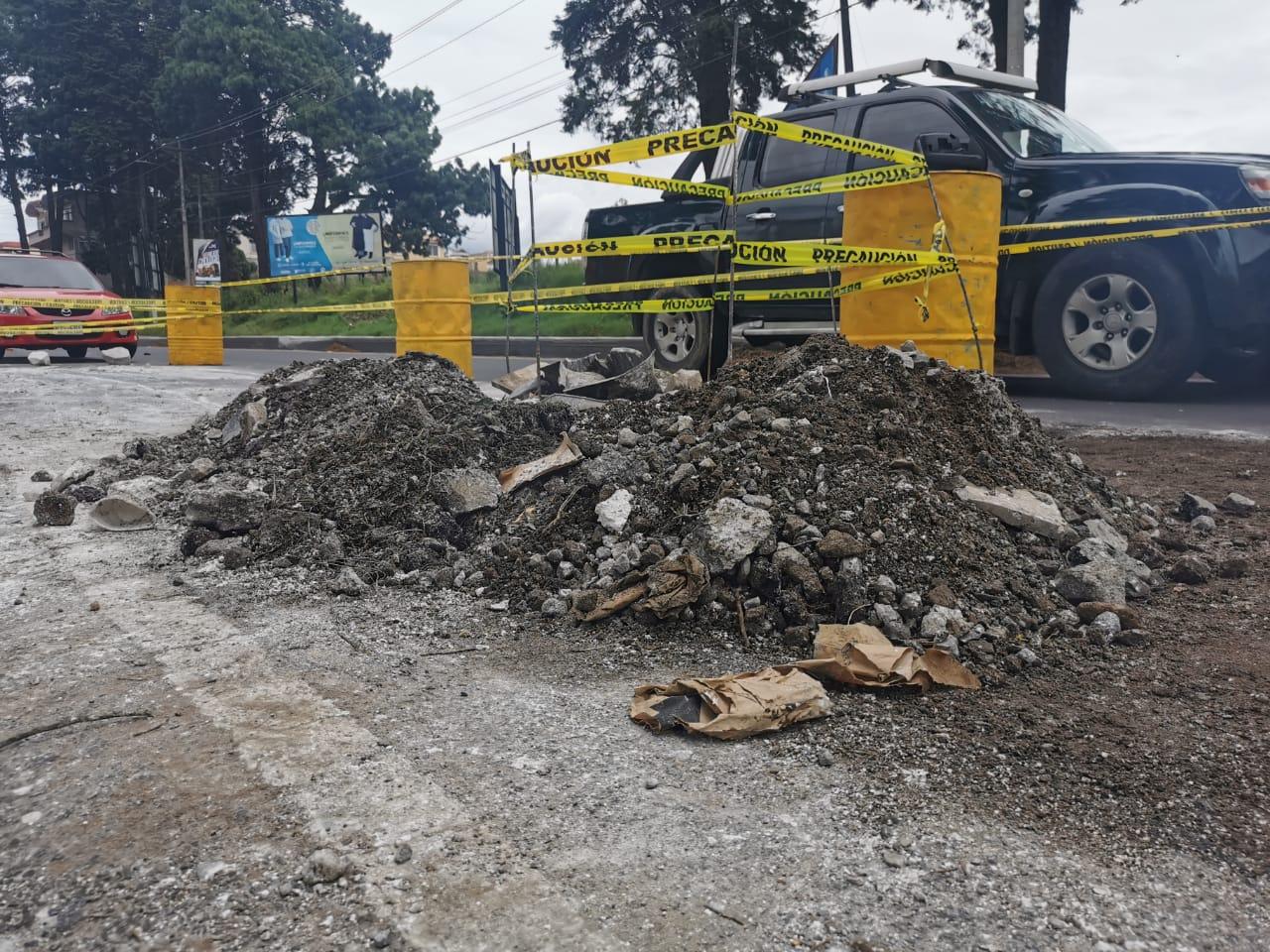Tramo de carril en la 0 calle de la zona 9 Xela estará cerrado por una semana