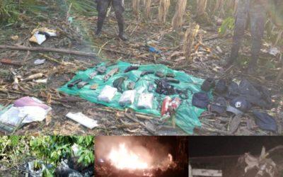Ejército de Guatemala localiza aeronave, dos cadáveres y armamento