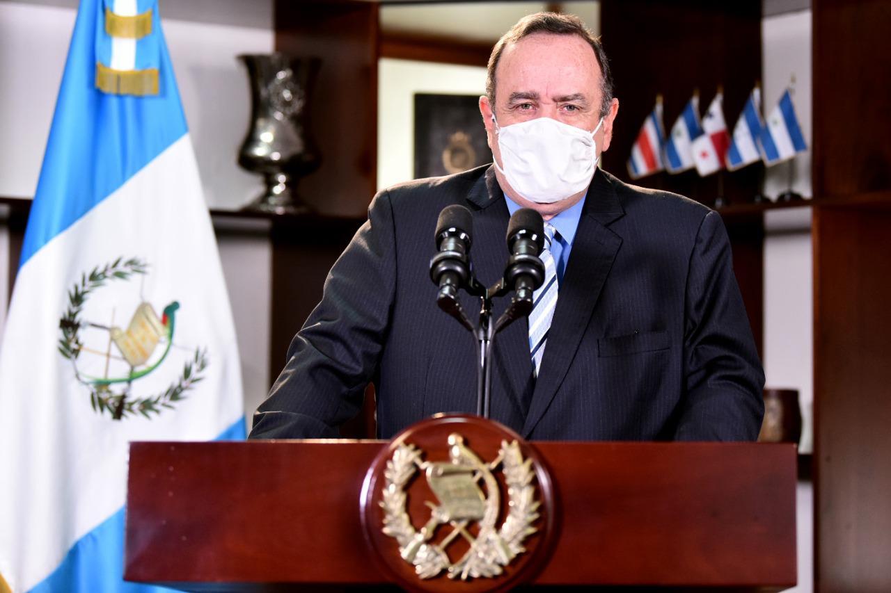 Presidente Giammattei confirma que no solicitarán prórroga del Estado de Calamidad