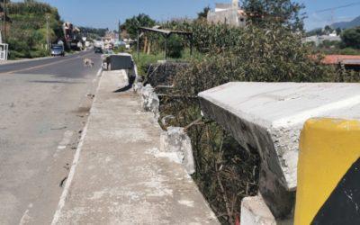¿Qué pasa con reparación de puente en Olintepeque? Resultó dañado tras accidente de tránsito