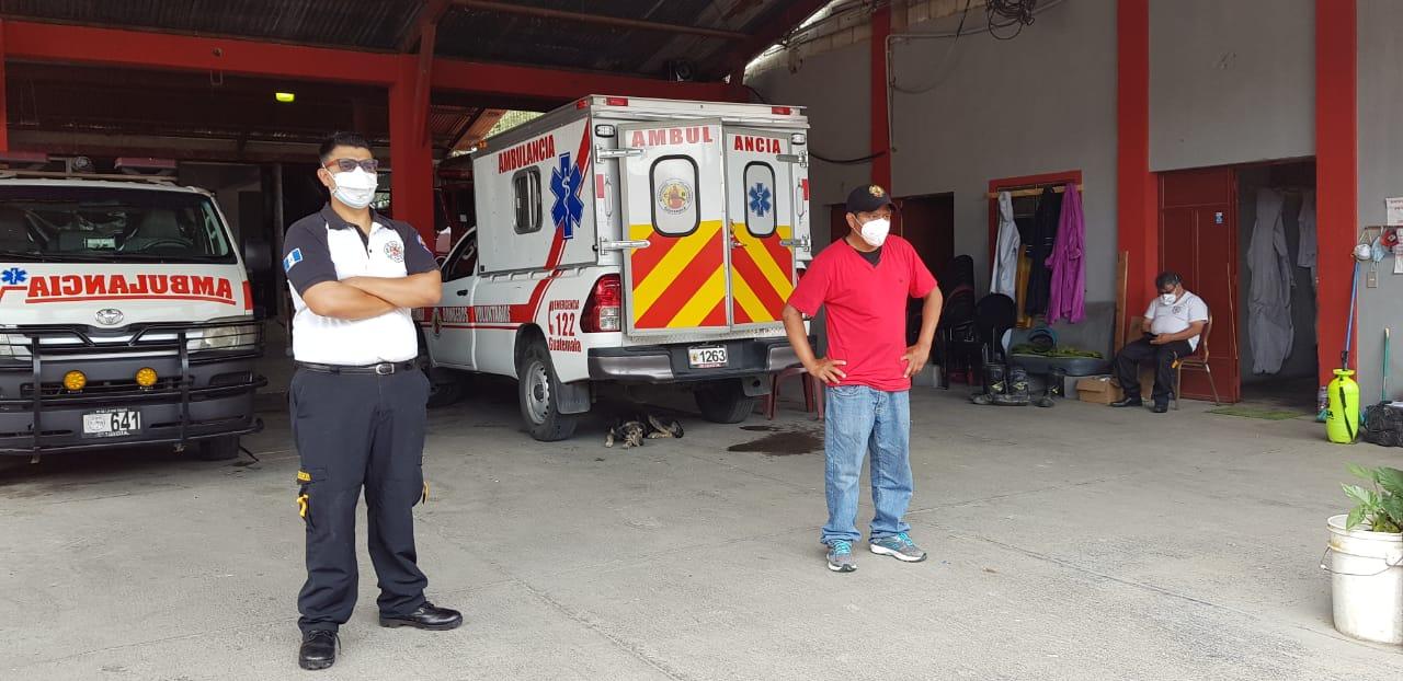 Bomberos de Panajachel cierran temporalmente luego de atender a paciente sin saber que era positivo de COVID-19