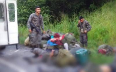 Mueren tres elementos del Ejército de Guatemala en accidente de tránsito