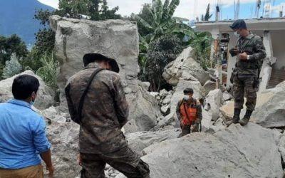 Ejército de Guatemala dinamita roca que causó tragedia en Sololá