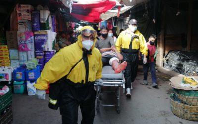 Choques, incendios, accidentes laborales y heridos con arma blanca. Semana complicada para bomberos en Xela