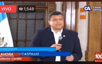 Guillermo Castillo Vicepresidente propone a Giammatei renuncia conjunta al puesto